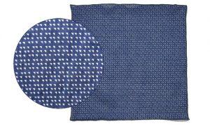 mouchoir de poche bleu foncé