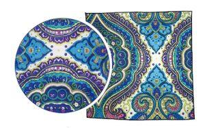 mouchoir de poche bleu