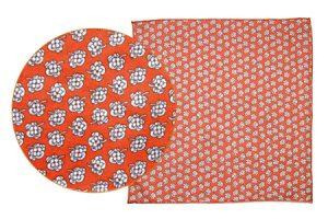 pochette de costume orange