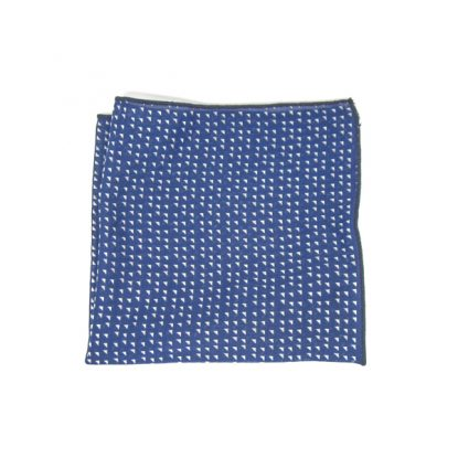 pochette bleue trianglé